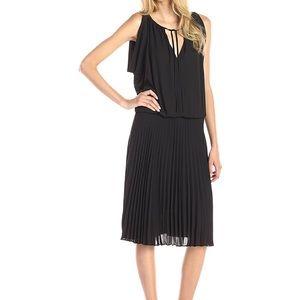 BCBGMAXAZRIA Lona Pleated Black Dress, size M